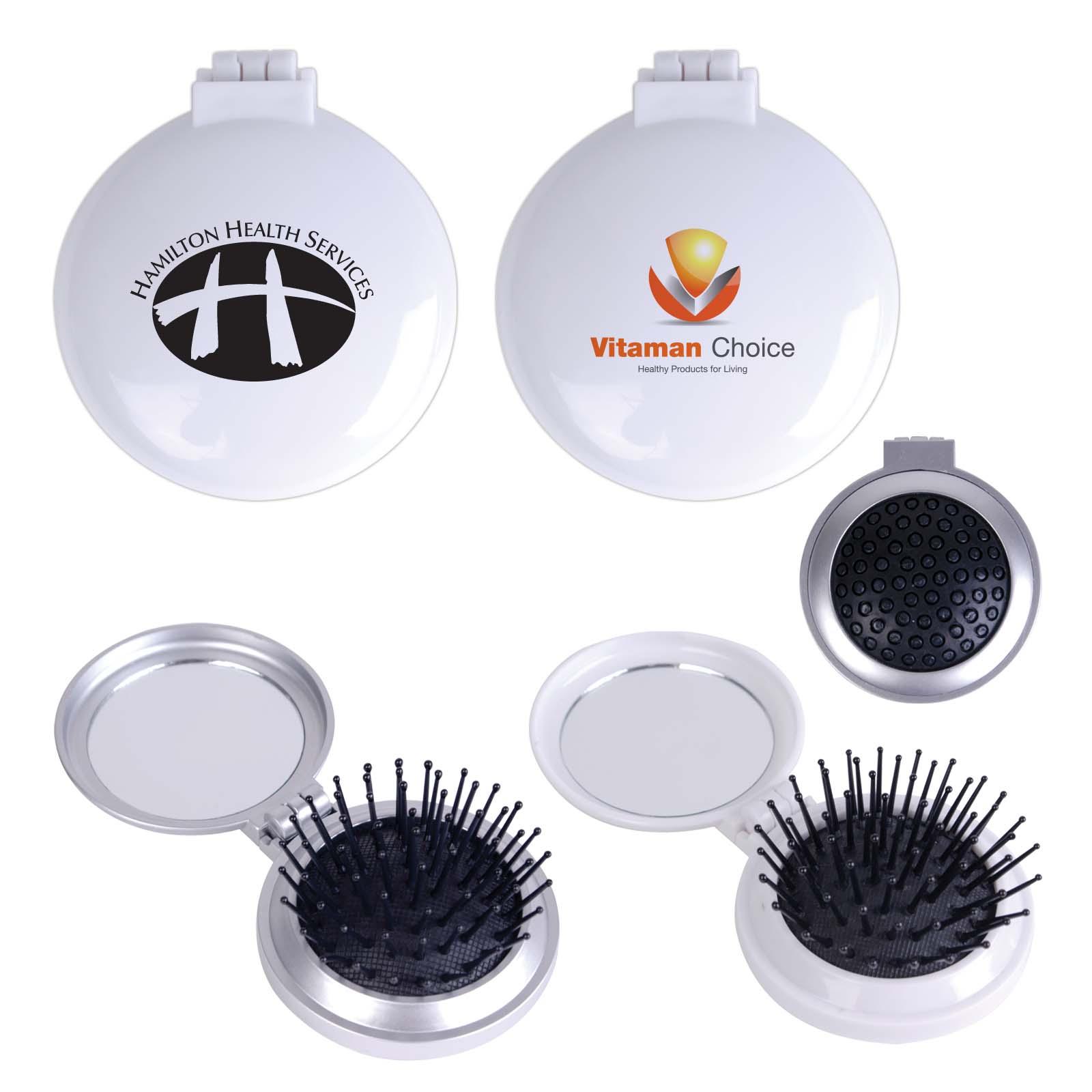Compact Pop Up Brush / Mirror Set