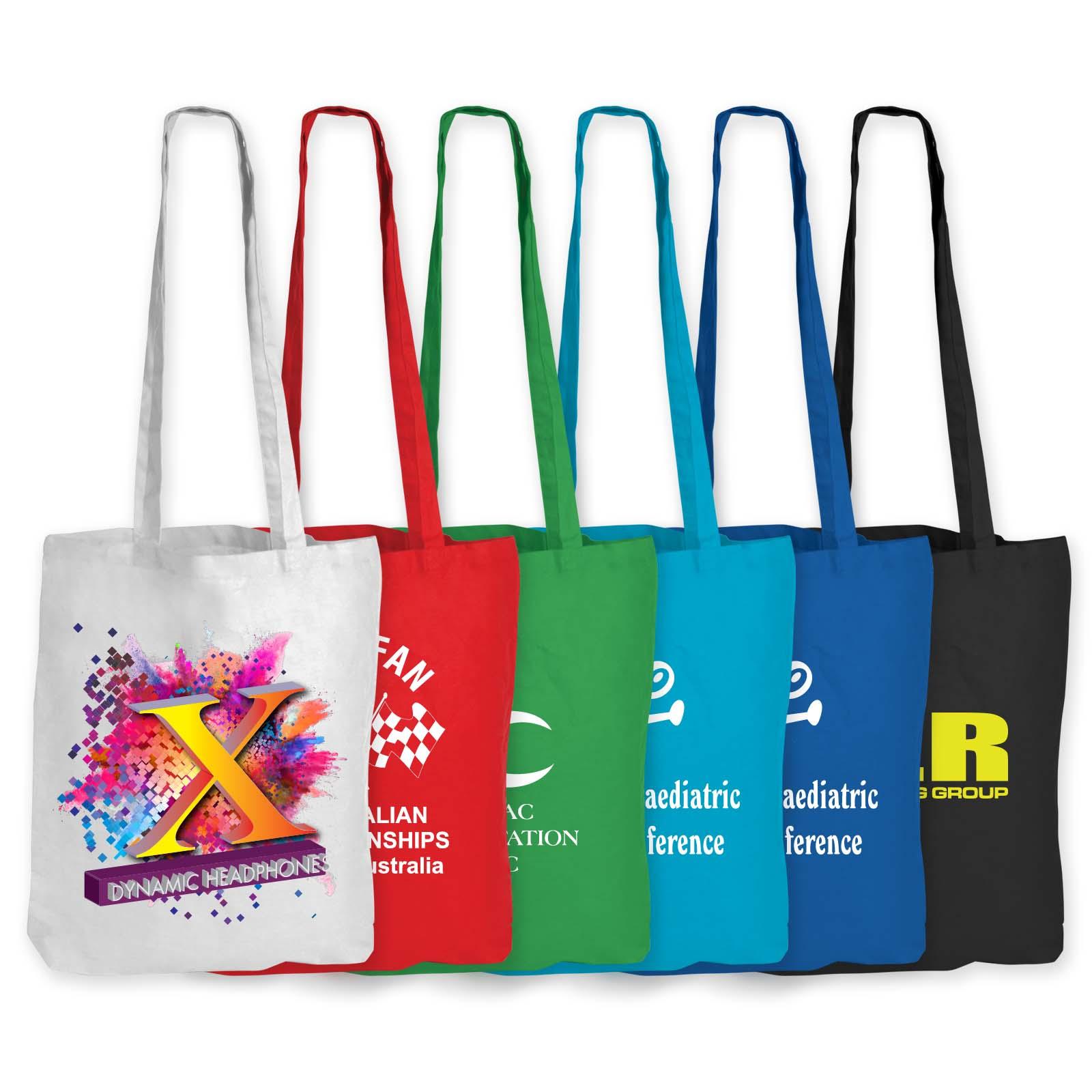 Coloured Cotton Long Handle Bag