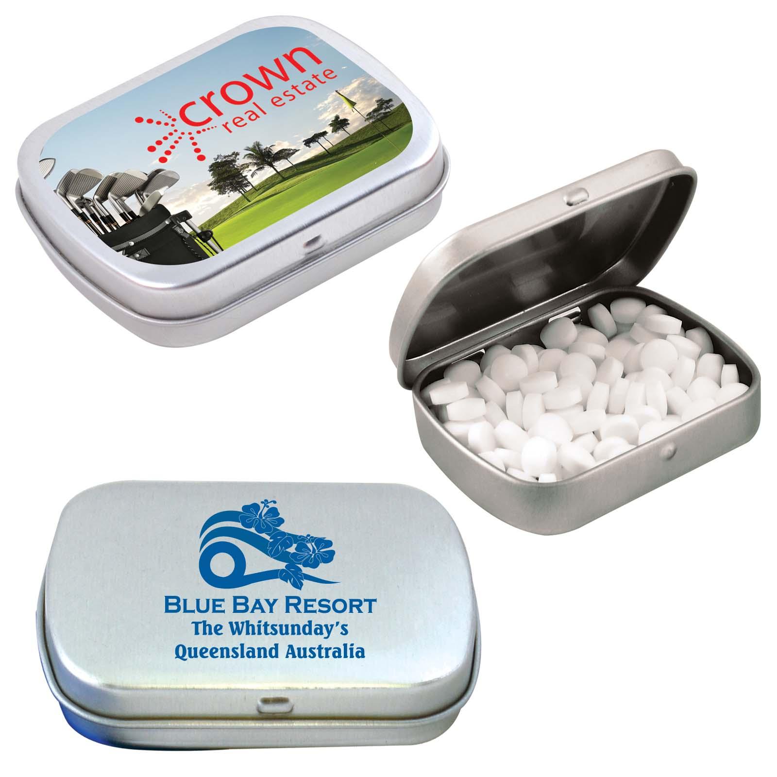 Sugar Free Breath Mints in Silver Tin